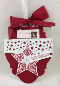 Cherry Cobbler Ornament Gift Card Holder
