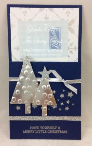 Silver Trees Gift Card Holder