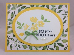 Daffodil Delight Painted Petals card