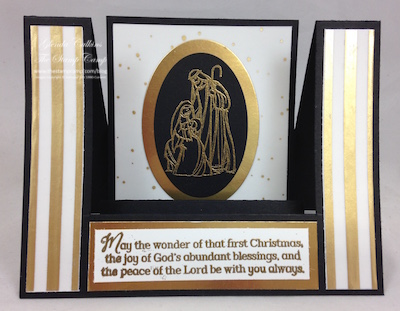 "Open Center Step Card using ""All Ye Faithful"" stamp set"