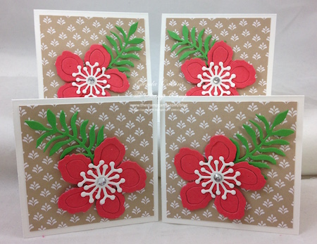 One 6 x 6 Piece of Designer Series Paper Four 3 x 3 Notecards