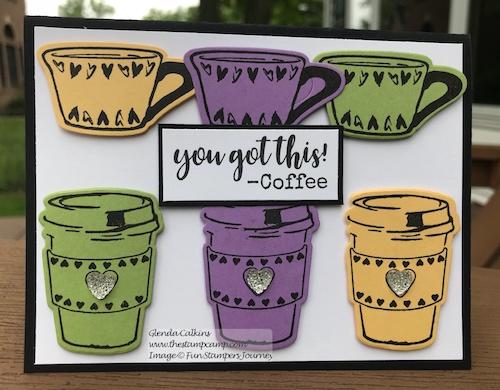 Coffee Helps Bundle, Fun Stampers Journey, glendasblog the stamp camp