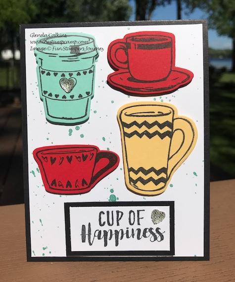 Coffee Helps Bundle, Fun Stampers Journey, glendasblog, the stampcamp