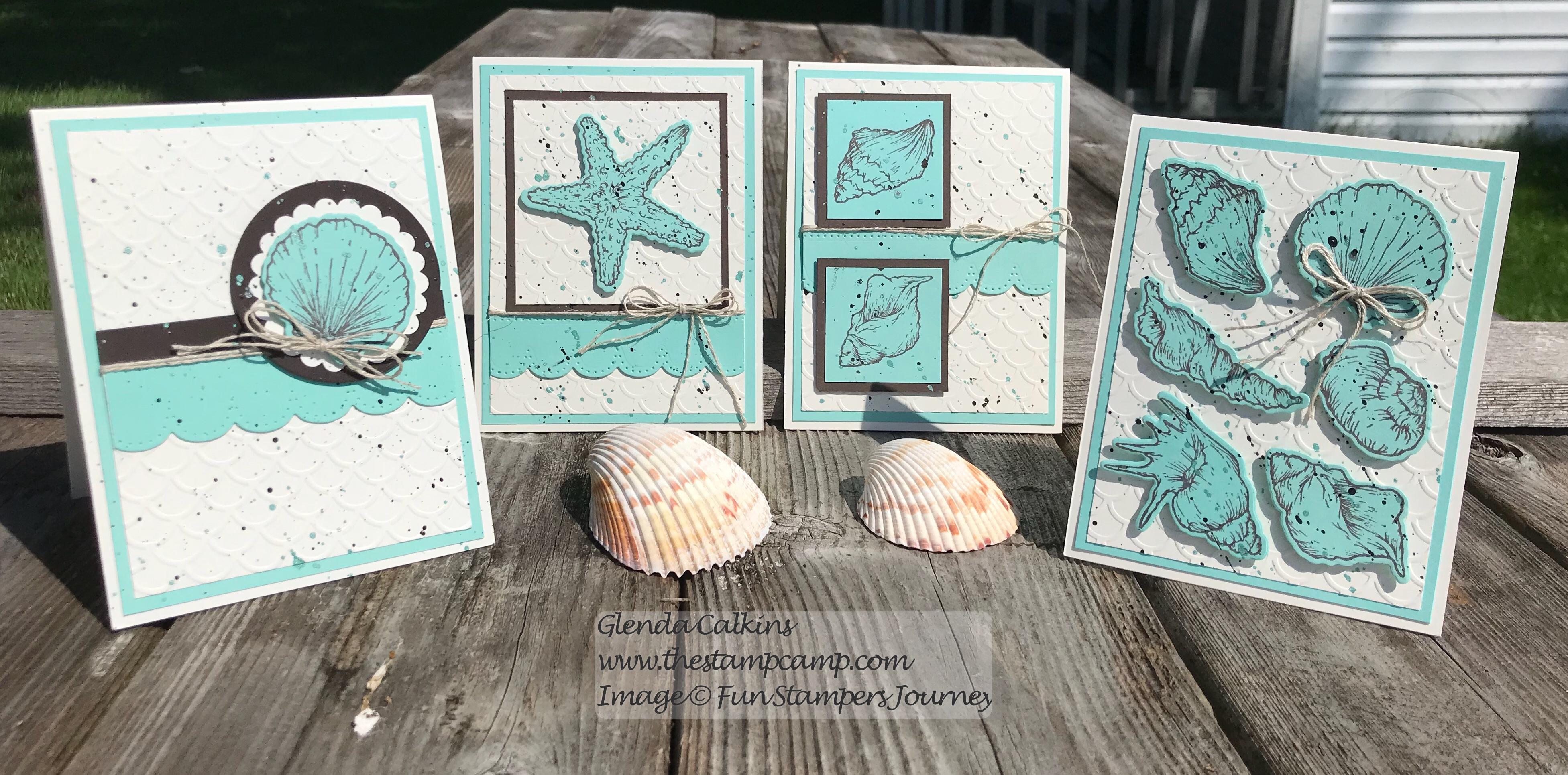 Beach Treasures Bundle, Fun Stampers Journey, glendasblog, the stamp camp