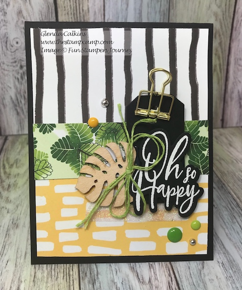 In the Tropics, Fun Stampers Journey, glendasblog, the stamp camp