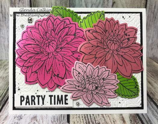 Dahlia Burst, Fun Stampers Journey, Glendasblog, the stamp camp