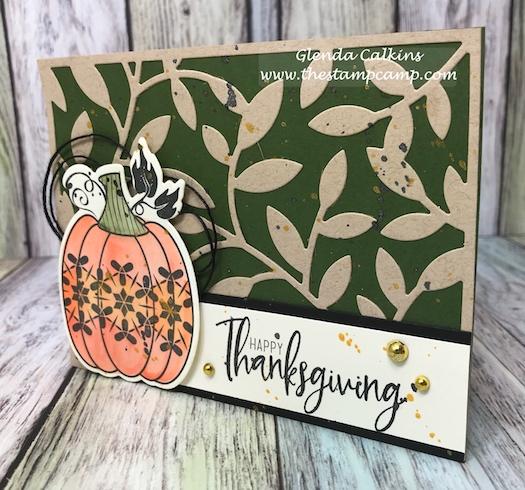 Leaf Pattern, Martha's Pumpkins, Fun Stampers Journey, glendasblog, the stamp camp