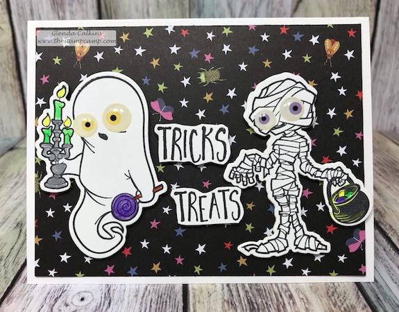 Ghostly Treats, Fun Stampers Journey, glendasblog, the stamp camp, FSJ