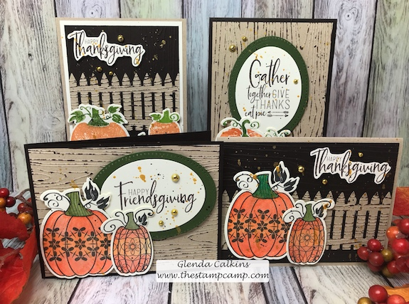 Martha's Pumpkins, Fun Stampers Journey, glendasblog, the stamp camp
