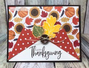 Fun Fold Curtain Card for Thanksgiving