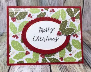 Cozy Prints and Sparkle Trim Christmas Card