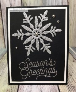 Quick Sparkly Christmas Card by Glenda Calkins