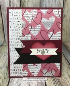 Need a card for Valentine's Day, Wedding, Anniversary; then the Follow Your Heart prints will be perfect for those occasions. Let the prints create the perfect card for those occasions. #fsj #printedpapers #thestampcamp #card