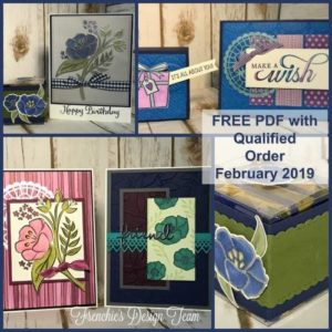 Do you love to receive samples of what you can do with a certain stamp set? With a min. order you will receive a PDF file of 6 or more projects to help you get create. #thestampcamp, #glendasblog, #stampinup