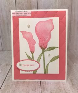Flirty Flamingo with the Lasting Lily Stamp Set