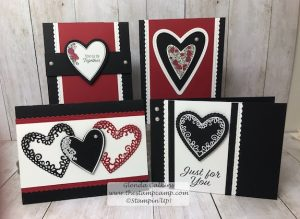 This is the Meant To Be Bundle from Stampin' Up! This gorgeous stamp set and coordinating dies so NOT just for Valentine's Day. I'm thinking Wedding, Bridal Shower, Anniversary, Mother's Day Details here: www.thestampcamp.com #stampinup #thestampcamp #glendasblog #wedding #anniversary