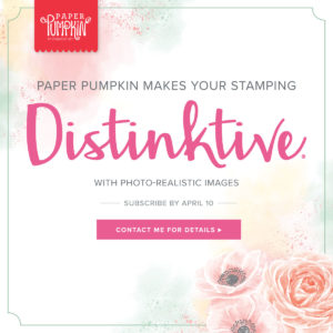 April Paper Pumpkin Kit - Brings Distinktive Stamps