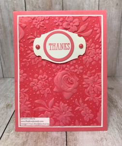 Country Floral Sale-a-bration Embossing Folder