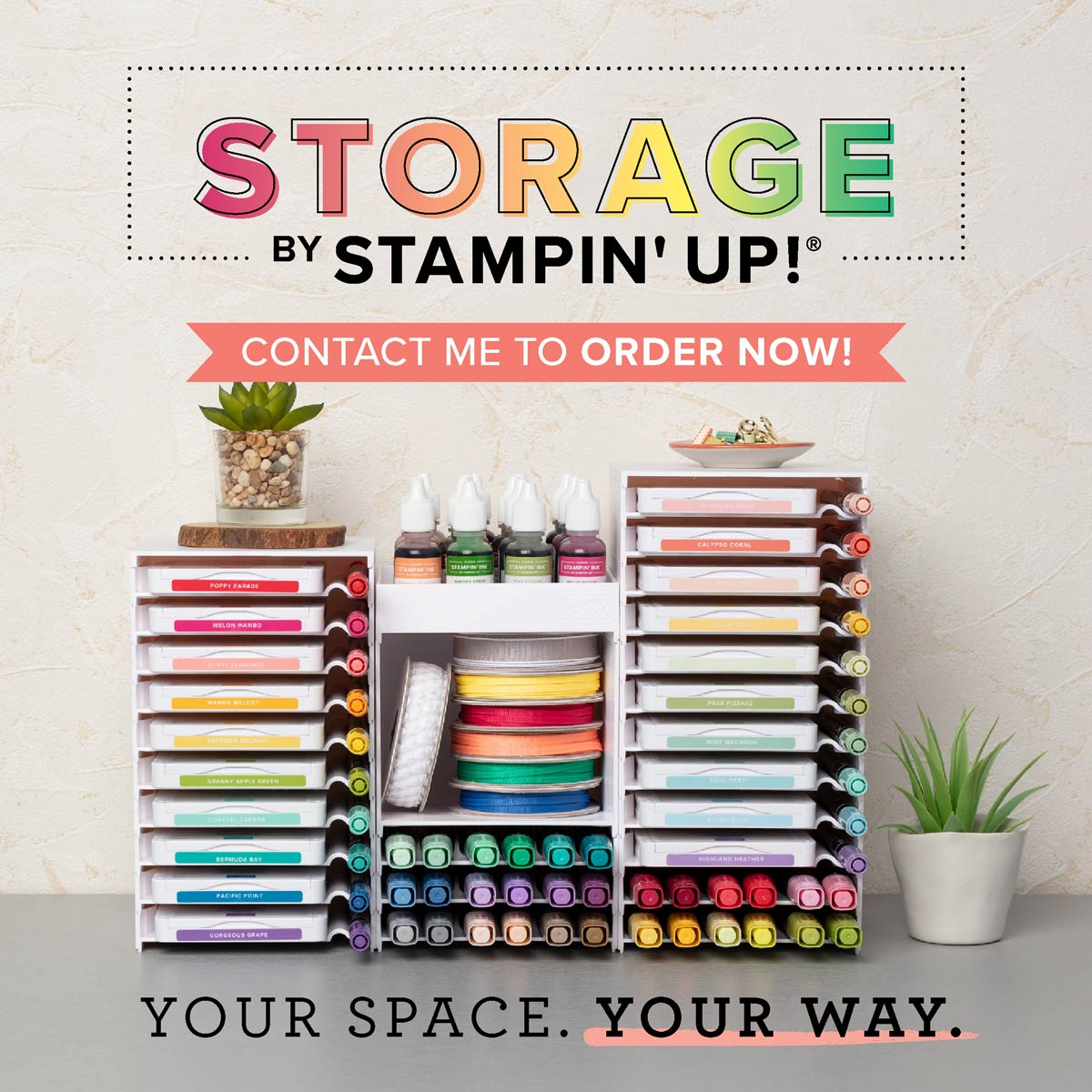 New Stampin' Storage System from Stampin' Up! details: www.thestampcamp.com #stampinup #thestampcamp #storage #stamps