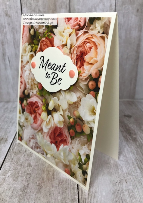 Let the beauty of the Designer Series Papers be the focal point and do the work for your cards.  Visit my blog: www.thestampcamp.com #thestampcamp #stampinup #wedding #handmadecards