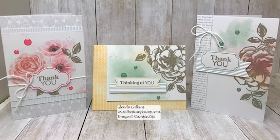 Paper Pumpkin kits are the quickest and easiest way to create a bunch of cards or give as a gift.  visit my blog: www.thestampcamp.com for details #stampinup #thestampcamp #glendasblog #cardkit