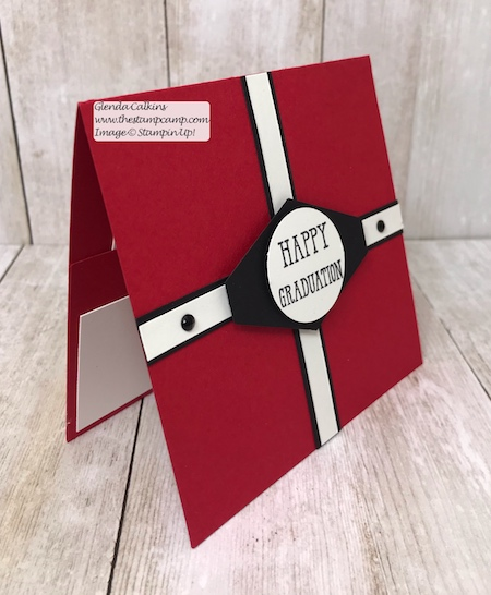 """It's Graduation Month; time for those gift card holders.  Details can be found on my blog: www.thestampcamp.com Video on my YouTube channel """"the stamp camp"""" #stampinup #giftcardholder #graduation #thestampcamp"""