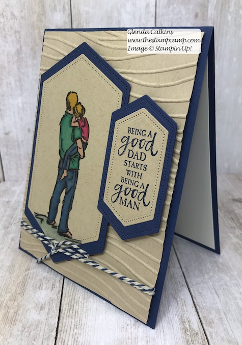 This is from the A Good Man Stamp Set from Stampin' Up! It is available to purchase on my blog. Here is the direct link: https://wp.me/p59VWq-a7N . #stampinup #masculine #cards #fathersday