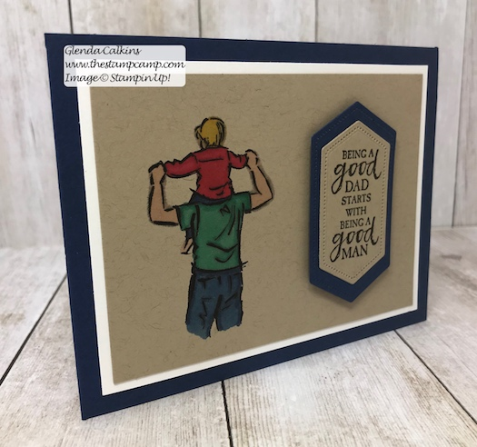 This is from the A Good Man Stamp Set from Stampin' Up! It is available to purchase on my blog. Here is the direct link: https:/https://wp.me/p59VWq-a8M #stampinup #masculine #cards #fathersday #giftcardholder