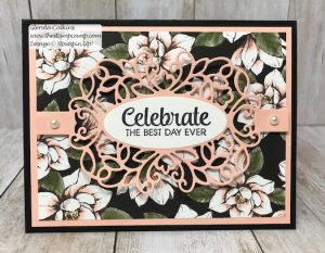 Stampin' Up! Magnolia Print and Detailed Bands