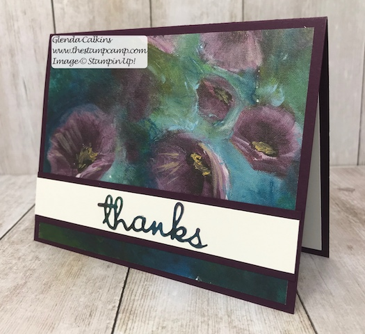 This gorgeous print is from the Perennial Essence Designer Series Paper pack from Stampin' Up! You can find all the details on my blog here: https://wp.me/p59VWq-a9e #stampinup #thestampcamp #glendasblog #printedpaper #perennialessence