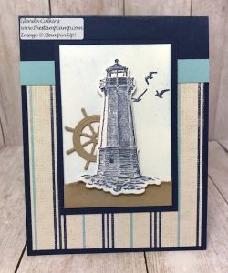 Stampin' Up! Sailing Home with Come Sail Away DSP