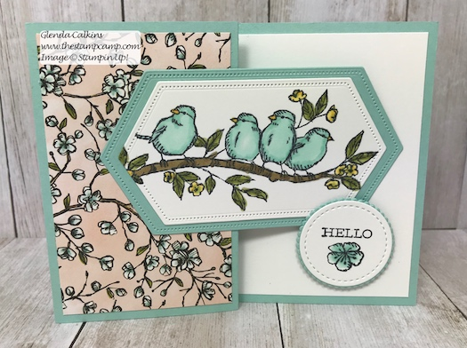 This is my featured stamp set for July. Details can be found here: https://wp.me/p59VWq-ad6 #thestampcamp #stampinup #freeasabird #birdballad