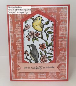 Stampin' Up! Free As a Bird Bonus Card