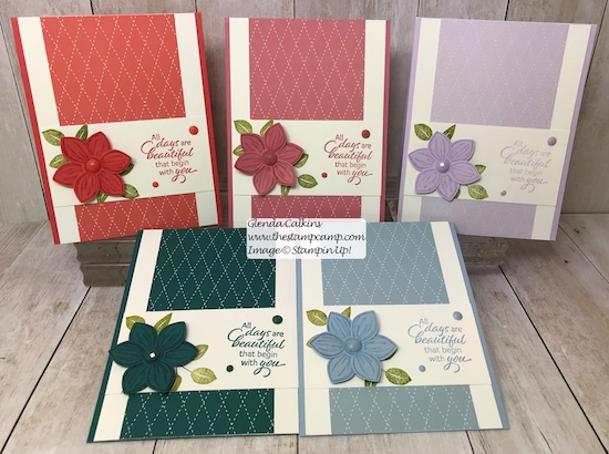 These are the New In Colors from Stampin' Up! These are for the 2019 - 2021. Details can be found on my blog here: https://wp.me/p59VWq-afC #stampinup #thestampcamp #incolors #floralessence