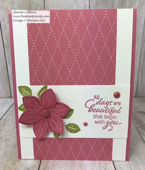 This is the Rococo Rose In Color from Stampin' Up! It is part of the 2019-2021 In Colors. Details can be found on my blog here: https://wp.me/p59VWq-afC #stampinup #thestampcamp #incolors #floralessence