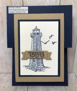 Stampin' Up! Sailing Home Fun Fold Card!
