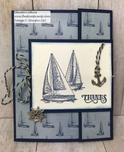 Sailing Home Double Card/Gift Card Holder