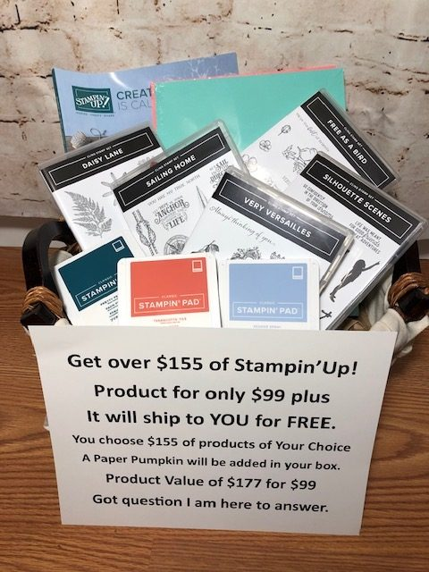 Stampin' Up! Starter Kit options. Choose $155.00 worth of products pay only $99.00. See my Blog post here for details. https://wp.me/p59VWq-ad4 #stampinup #thestampcamp #kit