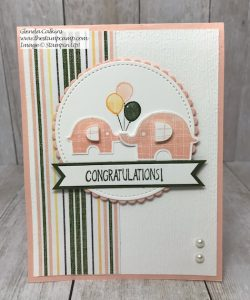 Stampin' Up! Little Elephant Baby Card