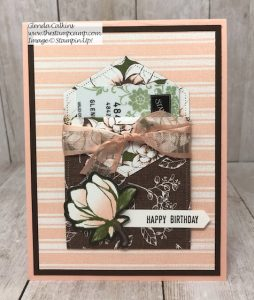 Stampin' Up! Magnolia Lane Gift Card Holder