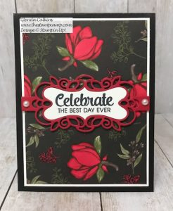 Stampin' Up! Magnolia Lane DSP Altered!