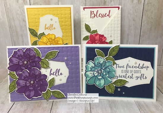 To A Wild Rose my featured stamp set for August from Stampin' Up! Details and ordering available on my blog here: https://wp.me/p59VWq-ahH . #stampinup #wildrose #thestampcamp #stamps