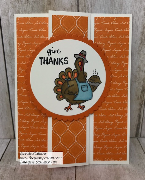 Birds of a Feather from Stampin' Up! has 4 little critters for your upcoming holiday cards or projects. Today's card features Tom the Turkey. Details on my blog here: https://wp.me/p59VWq-ap2 #stampinup #thanksgiving #thestampcamp #birdsofafeather