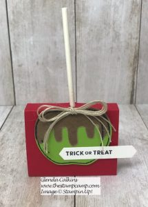 Harvest Hellos Caramel Apple Treat Holder