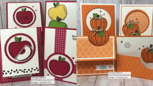 Harvest Hellos my featured stamp set for September. This half of the month is all about Pumpkins; the first 1/2 of the month was all about Apples. Details here: https://wp.me/p59VWq-apc #stampinup #harvesthellos #thestampcamp #pumpkins #halloween