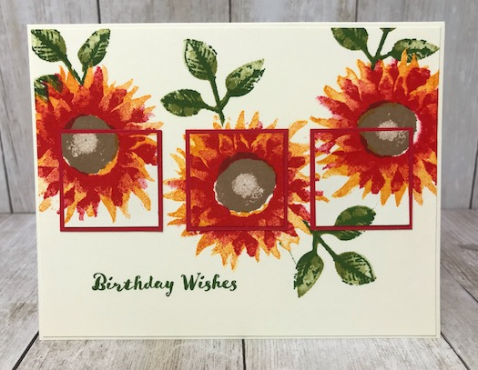 This is the Painted Harvest stamp set from Stampin' up! Great Set for those Fall birthdays and other occasions. Details on my blog here: https://wp.me/p59VWq-aqv #stampinup #paintedharvest #thestampcamp #birthday