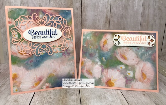 Perennial Essence papers from Stampin' Up! create beautiful cards in no time. Details can be found on my blog here: https://wp.me/p59VWq-ano #stampinup #perennialessence #thestampcamp #printedpapers
