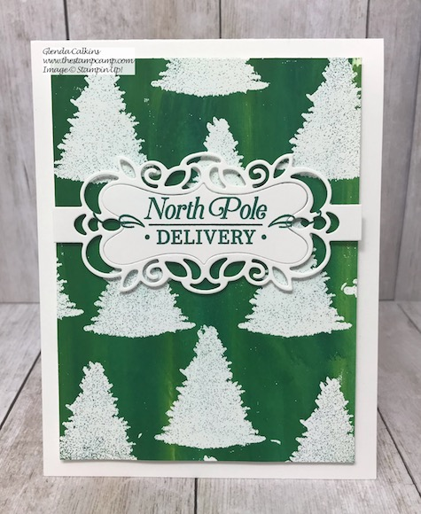 Embossed Resist Baby Wipe Technique using the Perfectly Plaid Bundle from Stampin' Up! Details on my blog here: https://wp.me/p59VWq-arm #stampinup #thestampcamp #techniques #christmas