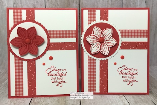 This is the Floral Essence stamp set in the New Terracotta Tile In Color. Which is your favorite; white flower or Terracotta flower? Details on my blog here: https://wp.me/p59VWq-arT #stampinup #thestampcamp #incolor #floralessence