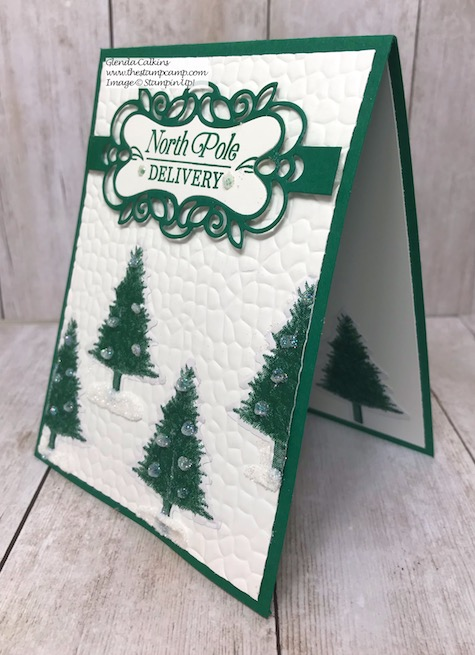 Tuesday's Tip & Technique featuring the Wrapped In Plaid Designer Series Paper. Video on Tips on my blog here: https://wp.me/p59VWq-atY #stampinup #thestampcamp #glendasblog #technique